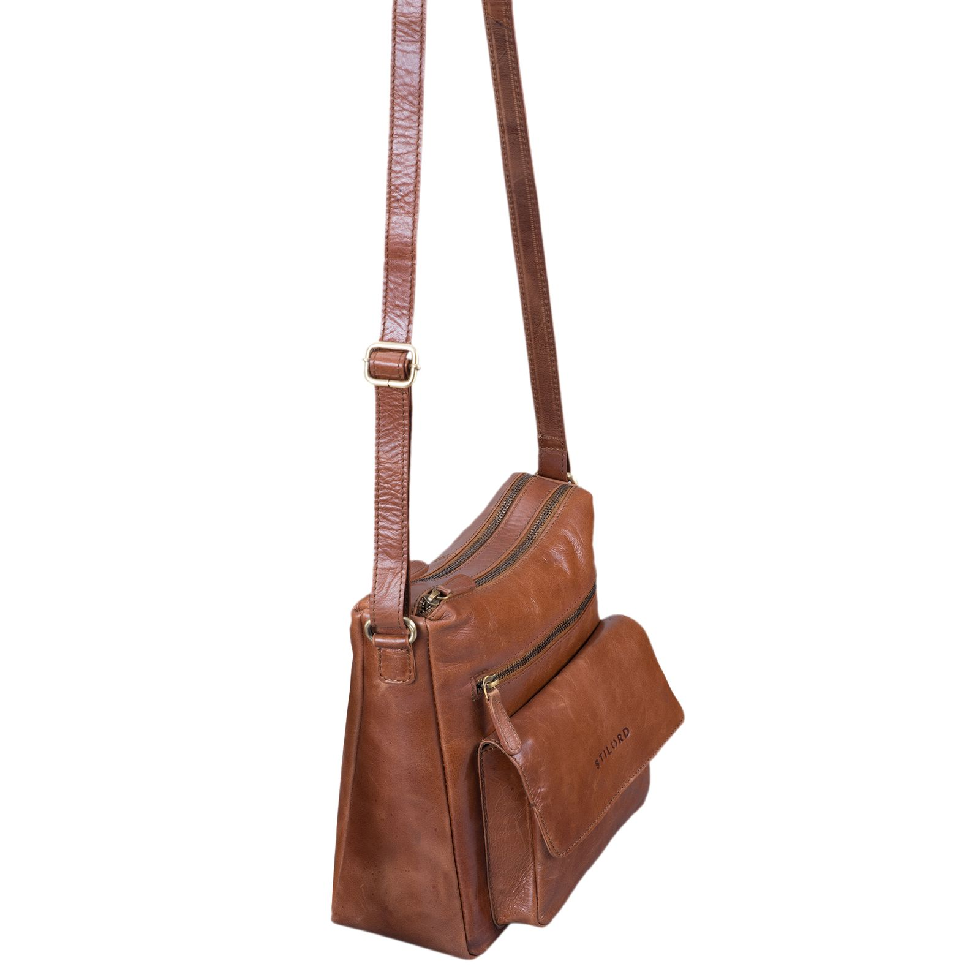"""STILORD """"Mira"""" Vintage Umhängetasche für Damen 12,2 Zoll Schultertasche Handtasche Ausgehen Freizeit Abendtasche Leder - Bild 10"""