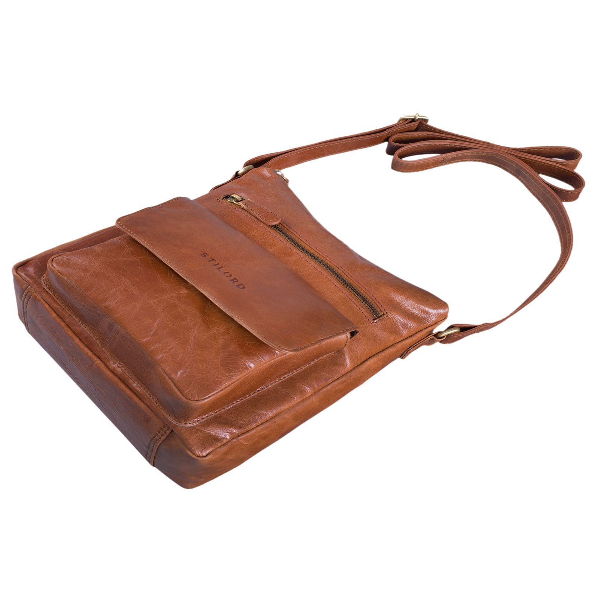 """STILORD """"Mira"""" Vintage Umhängetasche für Damen 12,2 Zoll Schultertasche Handtasche Ausgehen Freizeit Abendtasche Leder - Bild 14"""