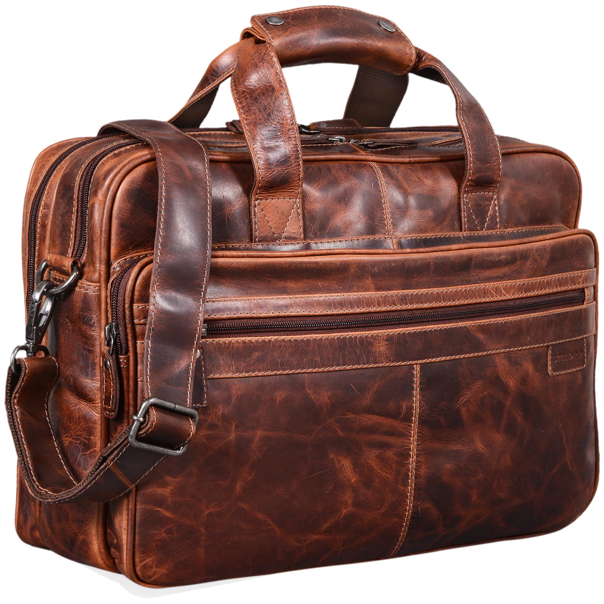 Große braune Schultasche