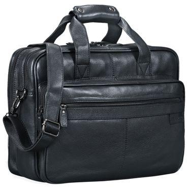 """STILORD """"Atlantis"""" Leder Aktentasche groß Vintage Lehrertasche Arbeitstasche große Ledertasche Businesstasche zum Umhängen Trolley aufsteckbar – Bild 10"""