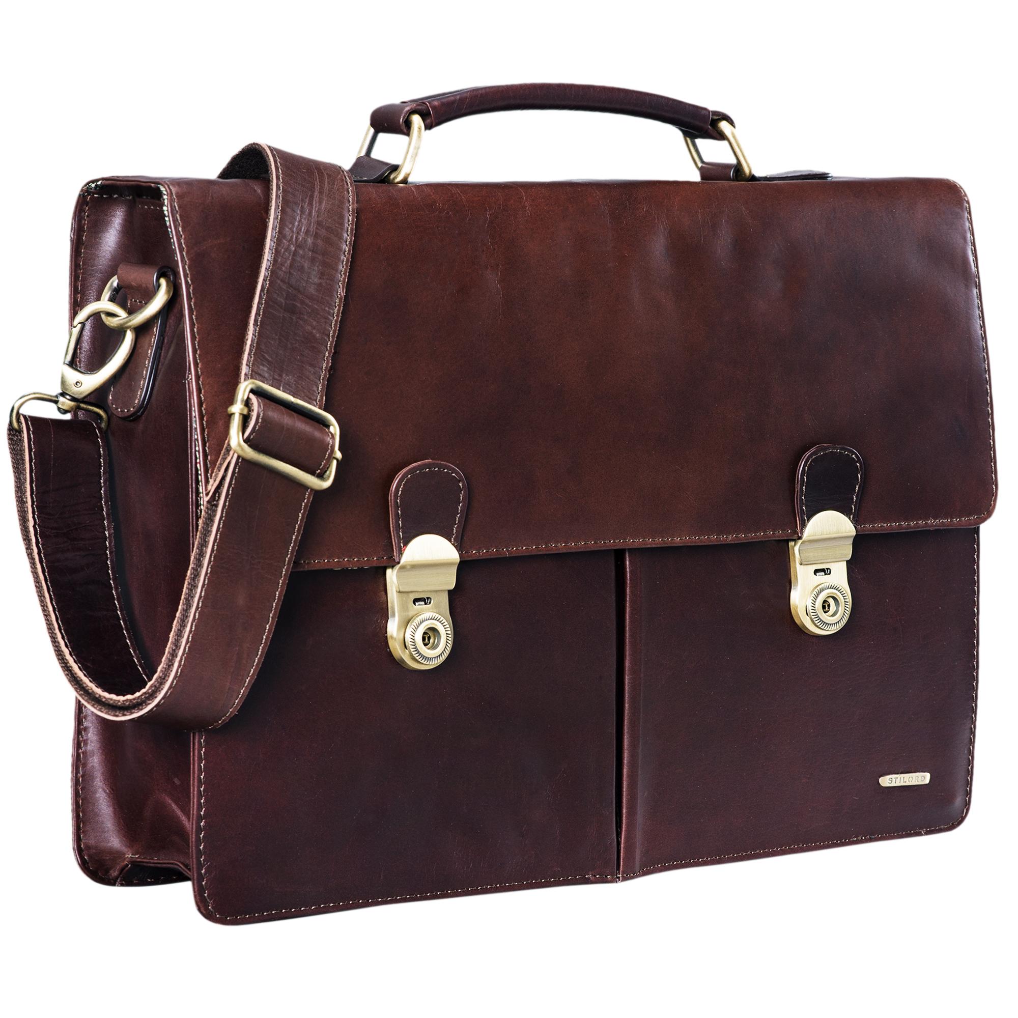 Aktentasche Businesstasche Herren Leder Vintage