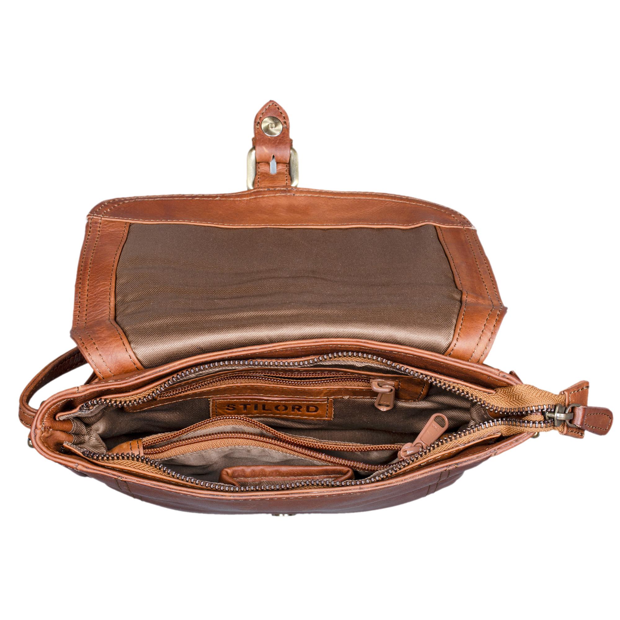 stilord zoe umh ngetasche damen leder handtasche frauen. Black Bedroom Furniture Sets. Home Design Ideas