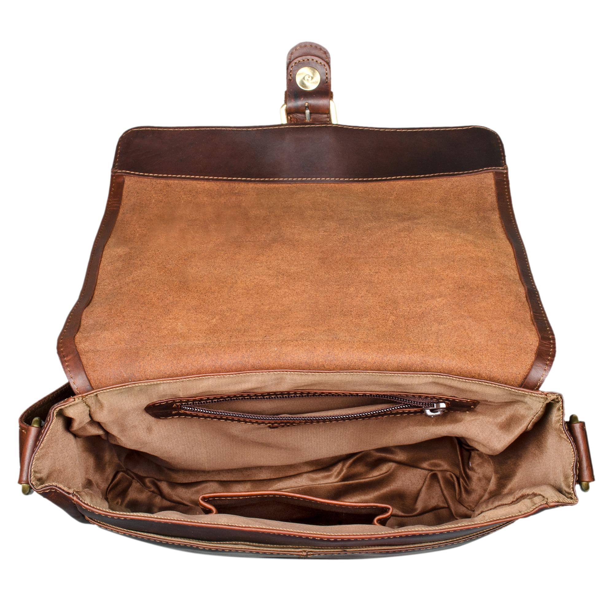 Herren Cross Body Bag Leder braun