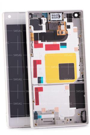 - Ersatz LCD - Service Pack - Xperia Z5 Compact mini Weiss 1297-3732