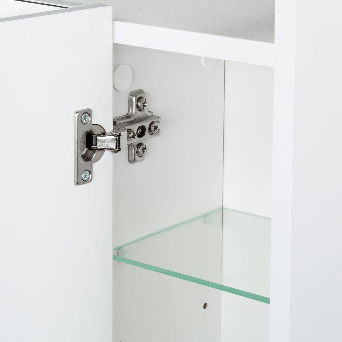 Galdem Spiegelschrank Elegance 70 cm mit Steckdose Weiß – Bild 3