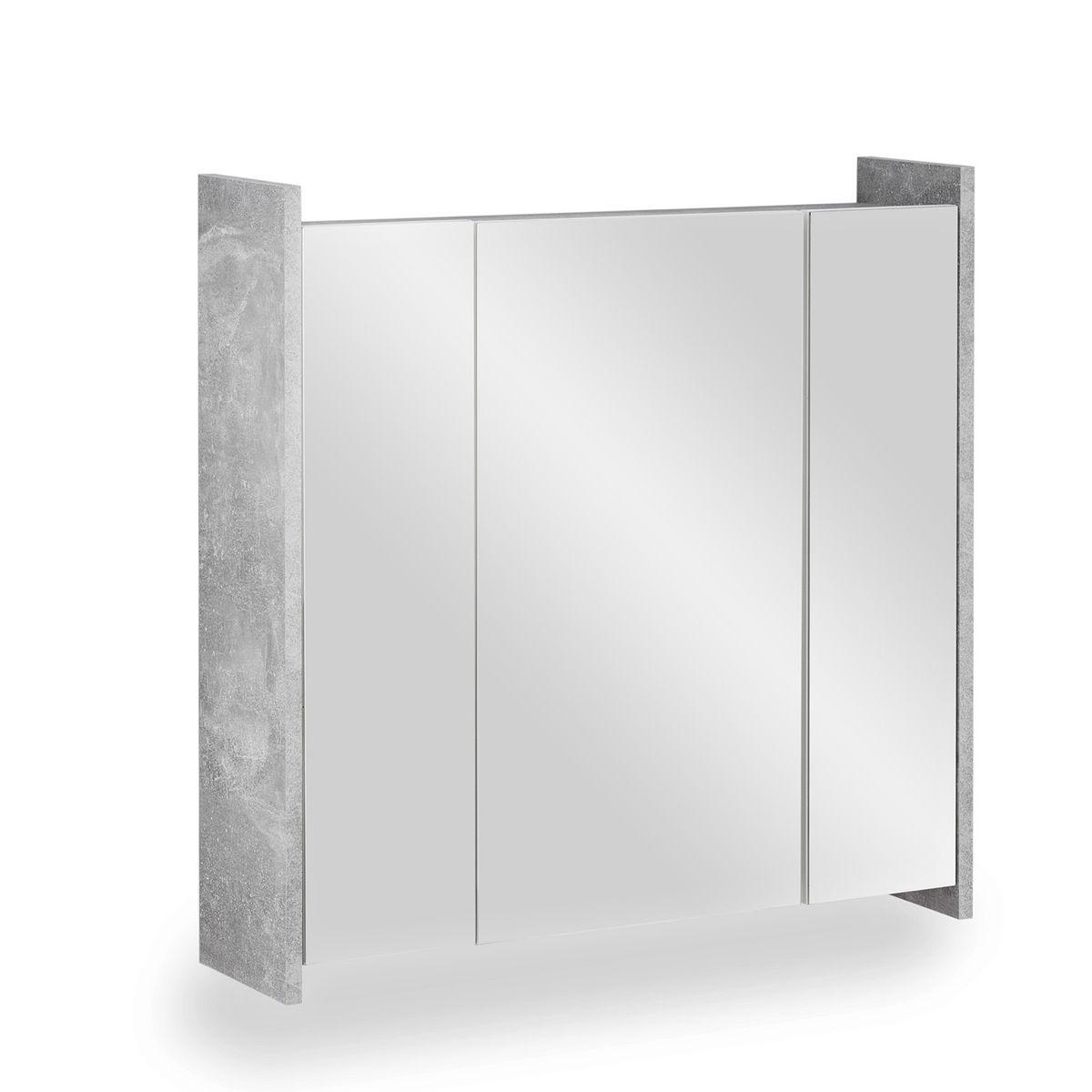 Spiegelschrank FROSTI 70 cm Beton Weiß