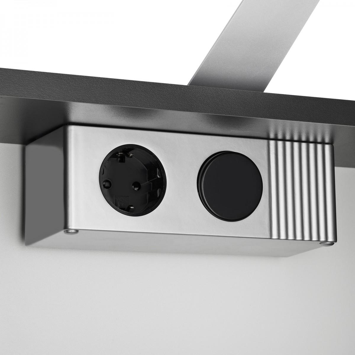 Spiegelschrank Elegance anthrazit mit LED Beleuchtung 70cm – Bild 5