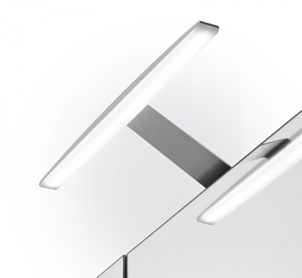 Badmöbel-Set ELEGANCE 2-teilig mit Beleuchtung Beton Weiß – Bild 5