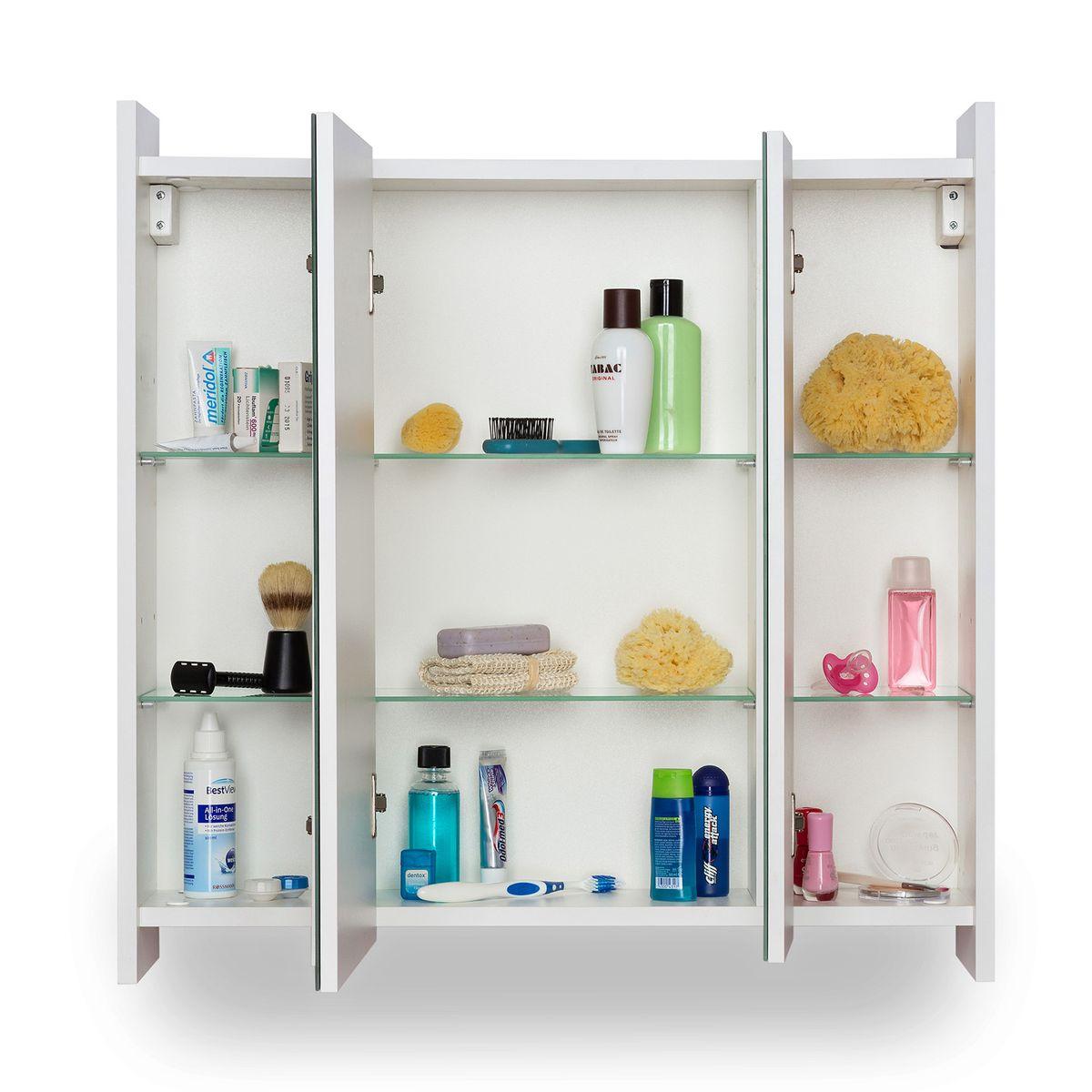 Galdem Spiegelschrank FROSTI mit Waschbeckenunterschrank Madison Weiß – Bild 3