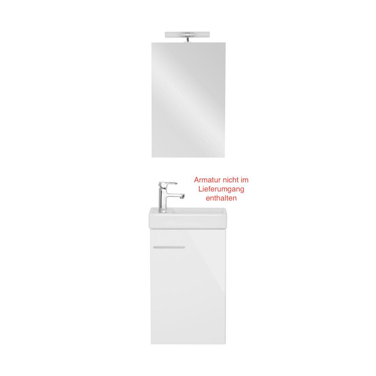 Gäste Bad-Set BOLOGNA Weiß – Bild 1