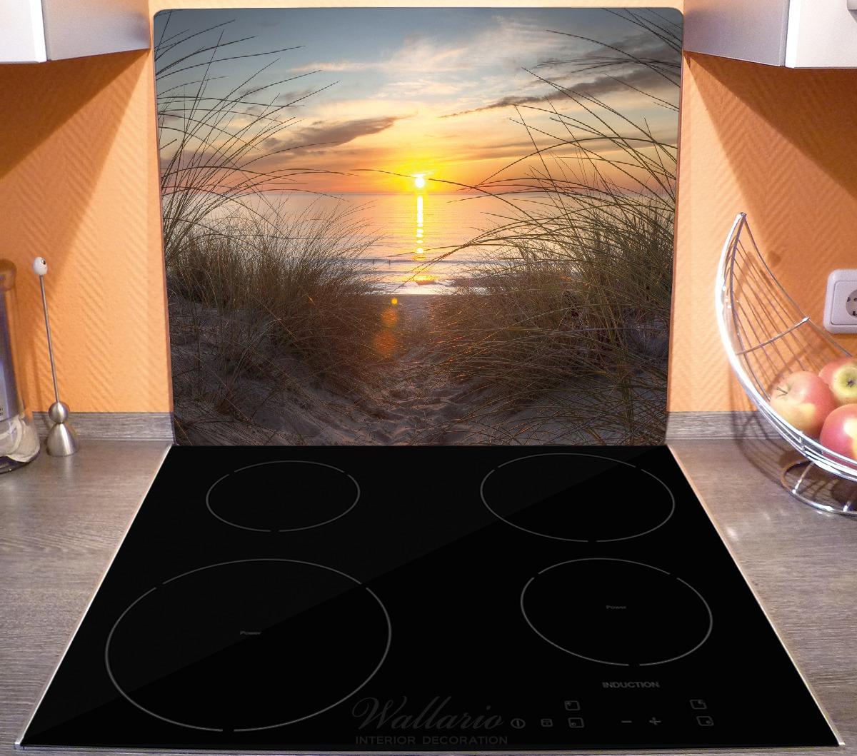 Herdabdeckplatte Sonnenuntergang am Strand