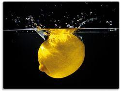 Glasunterlage Zitrone im Wasser - Frisches Obst für die Küche – Bild 1