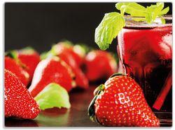 Glasunterlage Erdbeer-Mojito - Frische Erdbeeren – Bild 1