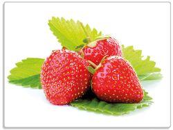 Glasunterlage Frische rote Erdbeeren für die Küche – Bild 1