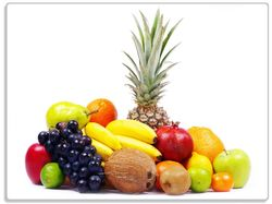 Glasunterlage Gemischtes Obst aus aller Welt - Exotische Obstsammlung – Bild 1