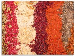 Glasunterlage Bunte Gewürze in Streifen - Chili, Curry usw. – Bild 1