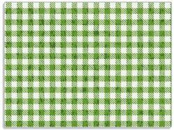 Glasunterlage Muster einer Tischdecke in grün und weiß kariert – Bild 1