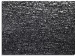 Glasunterlage Muster schwarze Schiefertafel Optik Steintafel – Bild 1