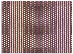 Glasunterlage Muster Herzen in beig und rosa in Reih und Glied – Bild 1