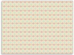 Glasunterlage Muster Herzen in rot, gelb und grün, symmetrisch angeordent – Bild 1