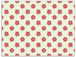 Glasunterlage Muster mit Blüten und Blättern – Bild 1
