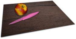 Glasunterlage Holz-Optik Textur dunkelbraunes Holz – Bild 2