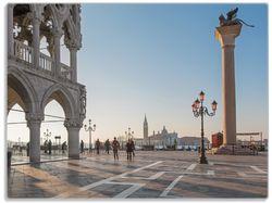 Glasunterlage Venedig - Dogenpalast, Markusplatz und die Kirche San Giorgio Maggiore I – Bild 1