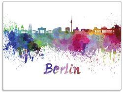 Glasunterlage Städte als Aquarell - Skyline von Berlin – Bild 1