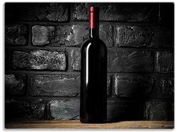Glasunterlage Rotwein-Flasche am Abend – Bild 1