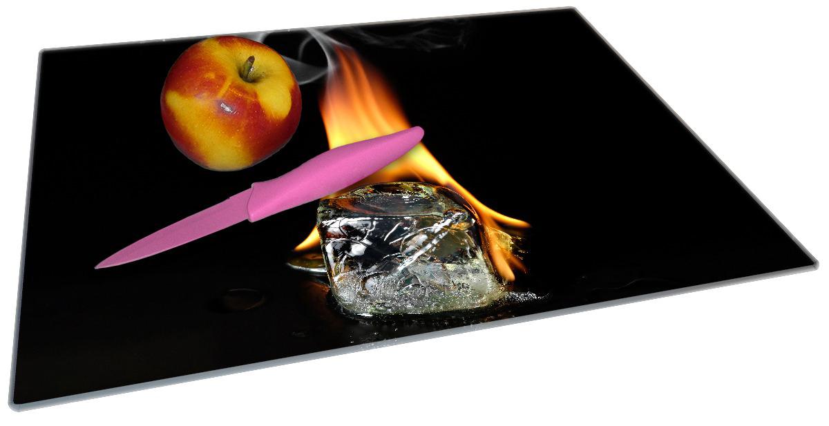 Glasunterlage Brennender Eiswürfel – Bild 2
