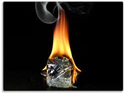 Glasunterlage Brennender Eiswürfel – Bild 1