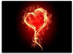 Glasunterlage Brennendes Herz – Bild 1