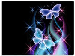 Glasunterlage Schmetterlinge in bunten, strahlenden Farben – Bild 1