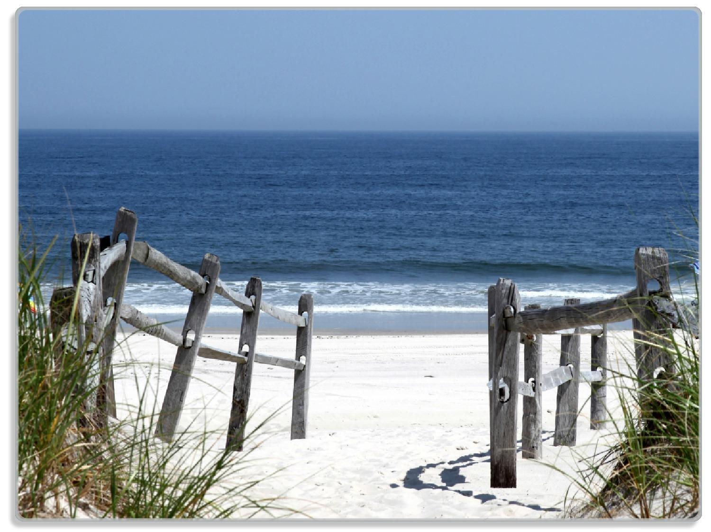 Glasunterlage Blick auf Strand – Bild 1