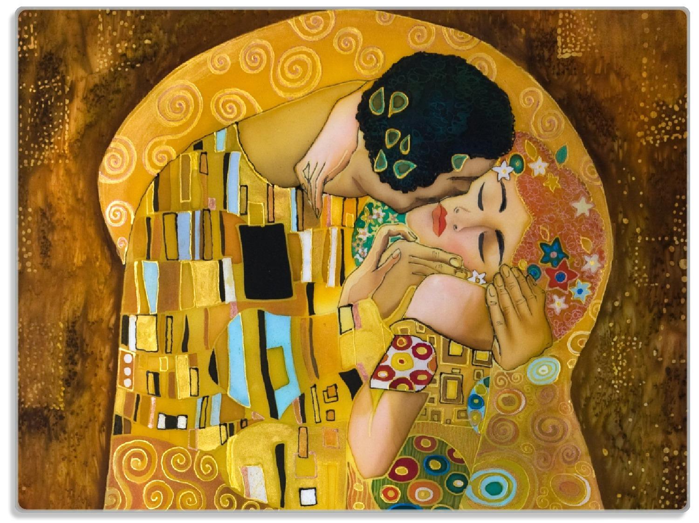 Glasunterlage Der Kuss von Klimt – Bild 1