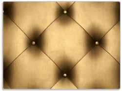 Glasunterlage Goldene Ledertür – Bild 1