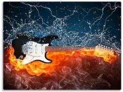 Glasunterlage Feuer-Wasser-Gitarre – Bild 1