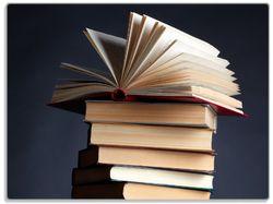 Glasunterlage Bücherstapel – Bild 1