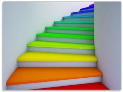 Glasunterlage Bunte Treppe – Bild 1
