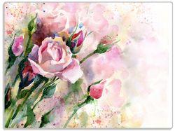 Glasunterlage Abstraktes Blumenbuket – Bild 1