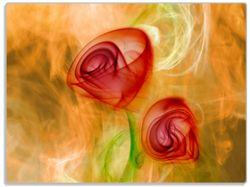 Glasunterlage Abstrakte Rosen – Bild 1