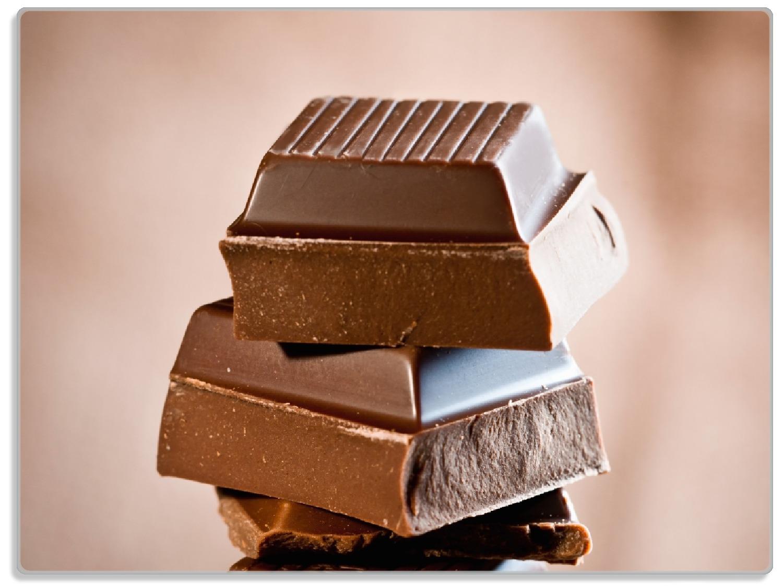 Glasunterlage Schokoladenstückchen – Bild 1