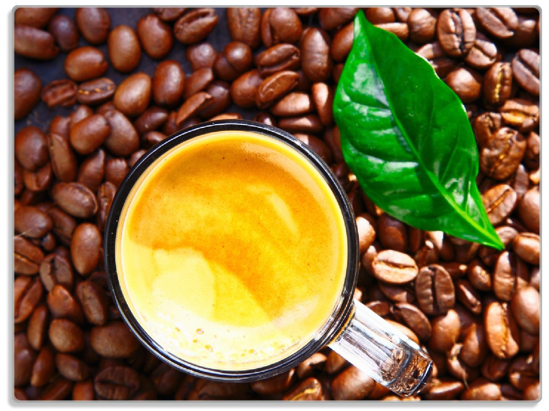 Glasunterlage Kaffee und Bohnen – Bild 1