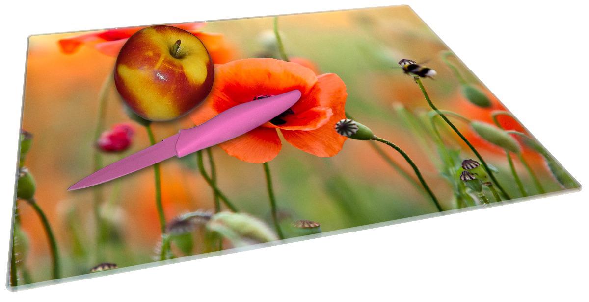 Glasunterlage Mohnblumenblüten – Bild 2
