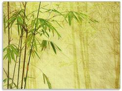 Glasunterlage Antiker Bambus – Bild 1