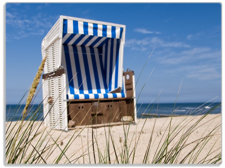 Glasunterlage Strandkorb – Bild 1