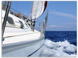Glasunterlage Segelboot on Tour – Bild 1