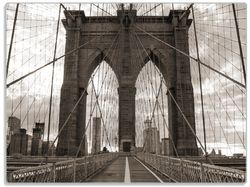 Glasunterlage Brooklyn Bridge in New York – Bild 1