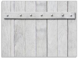 Glasunterlage Graue Holztür – Bild 1