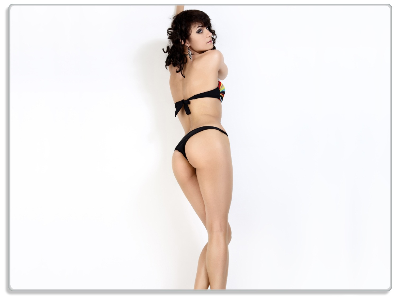 Glasunterlage Bikinifigur – Bild 1